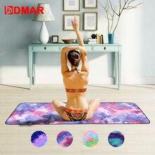 DMAR Printed Yoga Mat Cover Towel Microfiber Absorb Sweat Silica Gel Non-slip 183*63cm Blanket Pilates