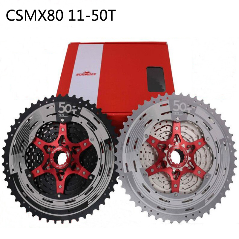 SunRace CSMX80 11-50T 11 speed Bicycle Free wheel Cassete SunRace MTB Bike Freewheel different to 9 10 Original bike parts image