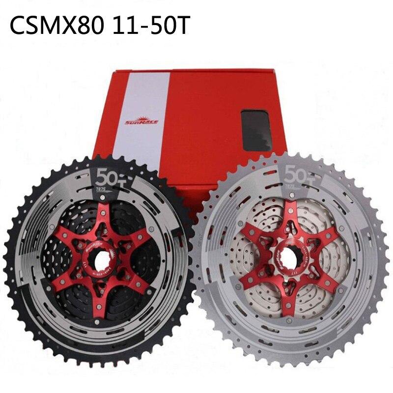 SunRace CSMX80 11-50 T 11 vitesses vélo roue libre Cassete SunRace vtt vélo roue libre différent à 9 10 pièces de vélo d'origine