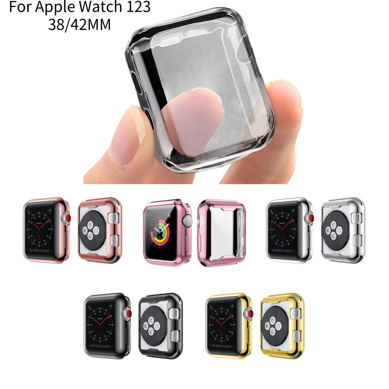 Soft Tpu Case Cover Screen Protector Watch Shell For Iwatch Apple Watch Series 4/3/2/1 38mm 40mm 42mm 44mm Smart Watch
