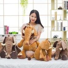 Купить с кэшбэком Decorative Pillows For Sofa Couch Home Office Chair Cushion Kids Adult Yellow Elephant 60cm Stuffed Giant Seat Back Cushion Car