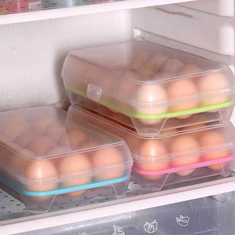 Hoomall recipiente de plástico portátil caso piquenique multifuncional ovos caixa de ferramentas de cozinha geladeira caixa de armazenamento fresco