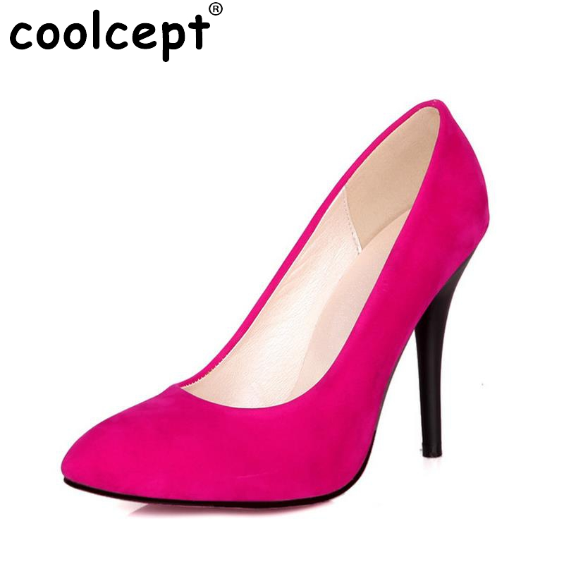 New Arrival Spring Vintage Women Pumps Elegant Fashion High Heels Slip-on Shoes Heeled Sexy Pointed Toe Ladies Shoes Size 31-43 2017 new spring summer shoes for women high heeled wedding pointed toe fashion women s pumps ladies zapatos mujer high heels 9cm