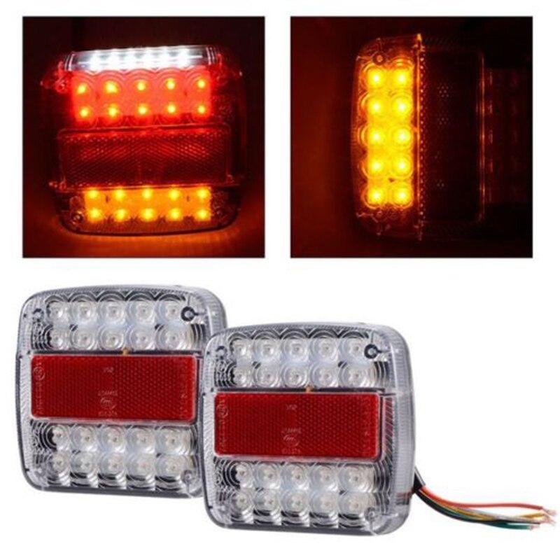26LED Stop Rear Tail Reverse Light Indicator License Plate font b Lamp b font Truck Trailer