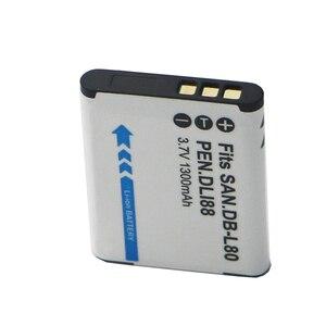 Image 4 - D LI88 DB L80 L80A D LI88 DBL80 DLi88 Rechargeable Batteries For Sanyo VPC CG10 VPC CG20 For PENTAX VPC CG88 CG100 P70 Battery