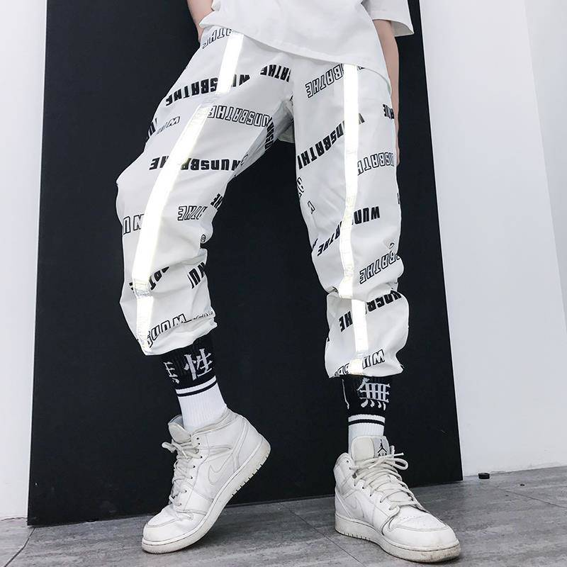 Cool Fashion Block Patchwork Harajuku Joggers Men Hip Hop Harem Pants Male Casual Streetwear Swag Track Trousers Mens Sweatpants