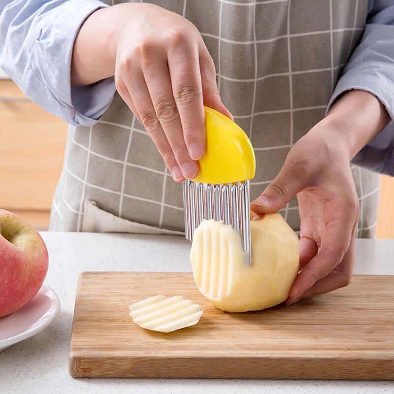 Carrot Peeler Vegetable Chips Maker Stainless Steel Potato Cutter Wavy Slicer