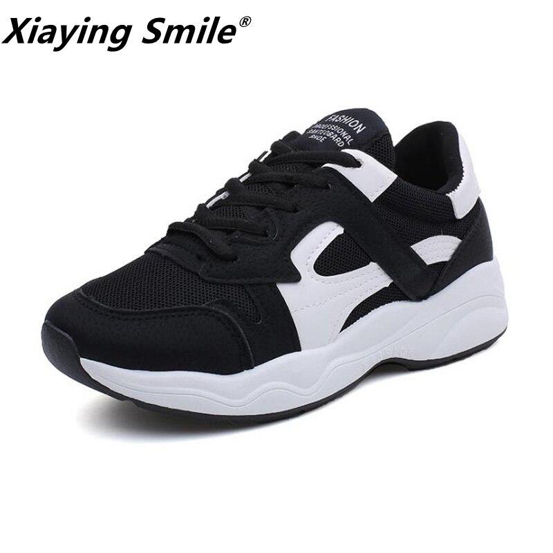 Xiaying улыбка Марка Новые Демисезонный кроссовки для наружного удобные Для женщин кросс ...