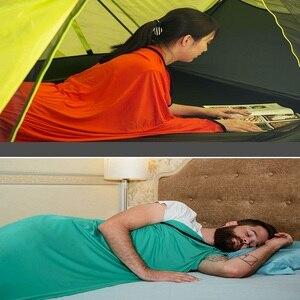 Image 3 - Naturerandonnée sacs de couchage élastiques doublure Camping en plein air voyage ultra léger feuille de transport hôtel Anti sale sac de couchage accessoires