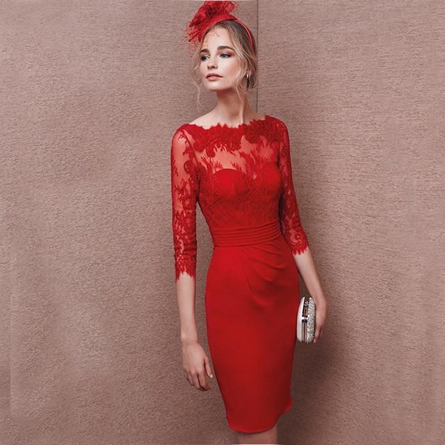 calidad estable diseño innovador excepcional gama de estilos Vestido rojo corto para boda – Vestidos de Coctel 2019