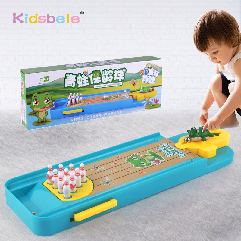 Desktop Bowling Game Toys For Children Indoor Parent-Child Interactive Table Sports Birthday Gift For Kids Playing Game