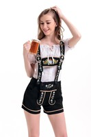 Free Shipping Bavarian Country Girl Oktoberfest German Beer Maid Wench Fancy Dress Costume M L XL