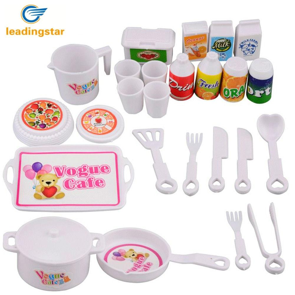 LeadingStar 25Pcs/Set Children Play House Game Toy Mini Simulation Kitchen Tools Early Education Toys Set ZK25 new arrival without original box house kitchen cart barbecue kitchen cart simulation role playing best early education toys