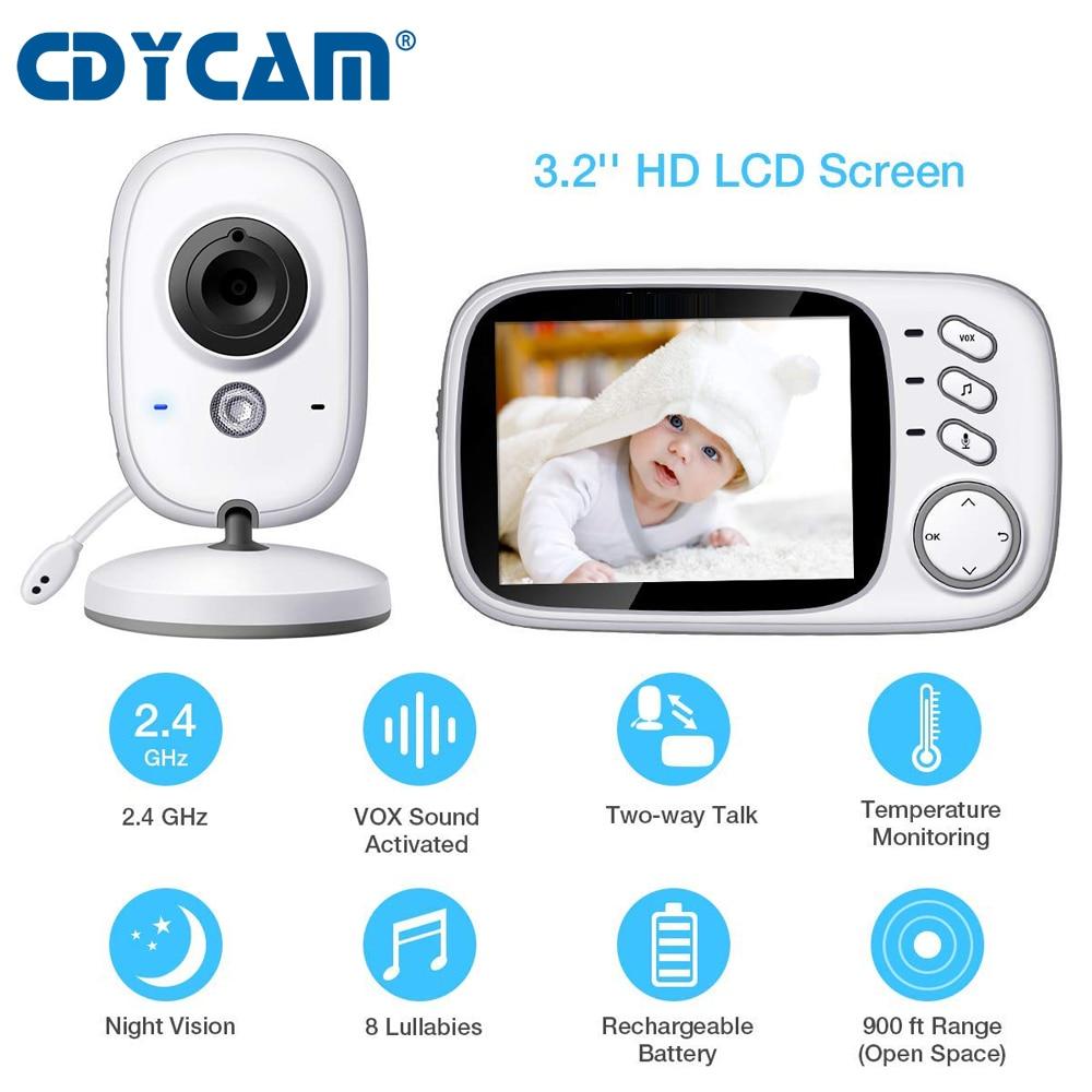 NEW VB603 3 2 inch LCD Baby Monitor Nanny Temperature Monitoring Lullaby 2 Way Audio IR