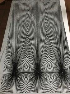 Image 2 - unique JIANXI.C 71106 glued glitter net lace fabric French net lace fabric with glued glitter decoration