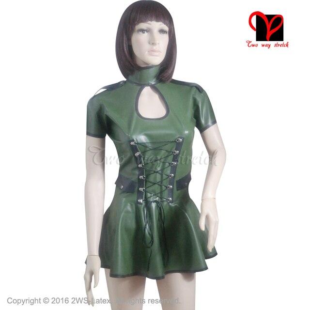 Rubber military fetish dress