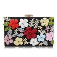 2017 nova Rachel flores bordadas Saco Jantar saco de mão multicolor cadeia bordado saco da noite de diamante