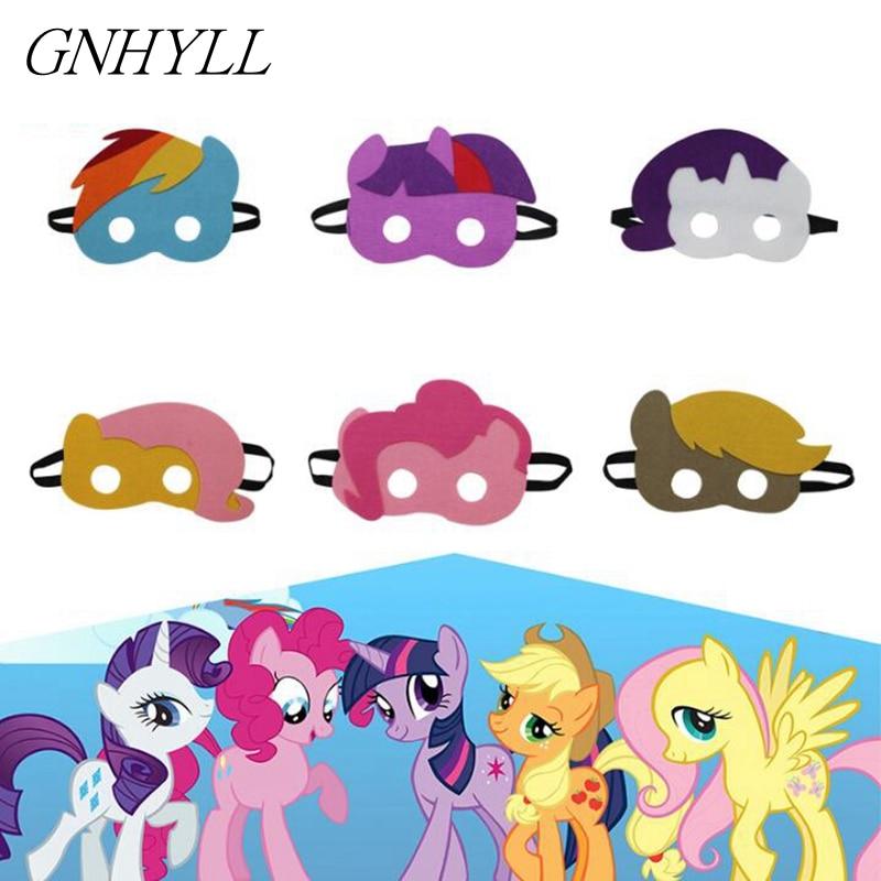 GNHYLL 6 Color niños mis pequeñas máscaras de pony traje de vestir - Para fiestas y celebraciones
