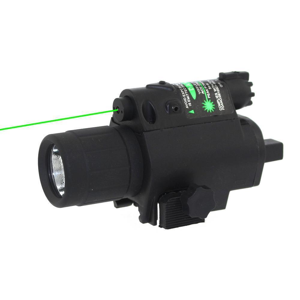 Fusil Tactique LED lampe de Poche Vert Dot Laser Sight Combo 200LM 650nm Pour Pistolet Pistolets Glock Airsoft HT8-0001G