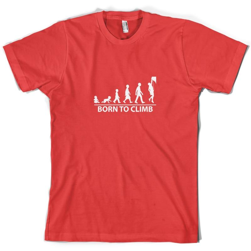Born To Rock Climb - Mens T-Shirt Rockclimb Climber 10 Colours-Free UK P+P Print T Shirt Short Sleeve Hot Black Style