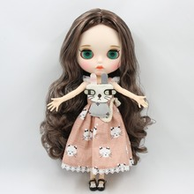 Factory Neo Blythe Doll Silver Brown Mix Hair Jointed Body 30cm