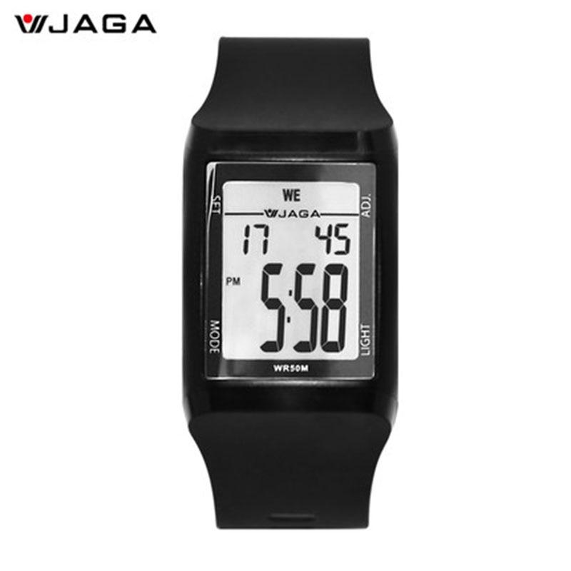 JAGA Qol Saatları Su keçirməyən LED Saat Smart Electronics Təsadüfi Qol Saatları Moda İdman Saatları Kişilər üçün Reloxo Masculino M866