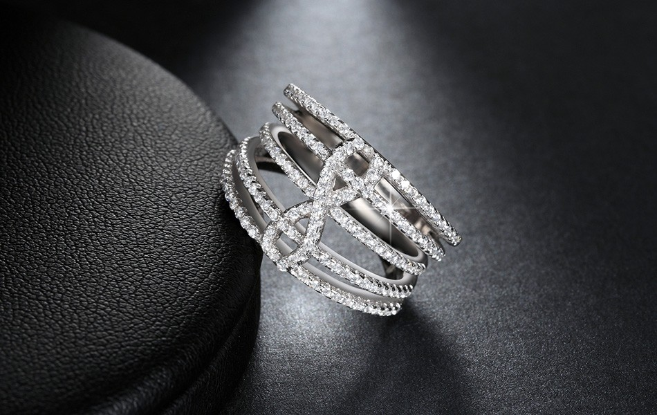Infinity Sign Ring With 140 Pieces Micro Cubic Zircon Pave