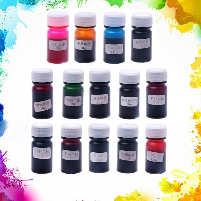 14 Farben Flüssigkeit Silikon Harz Pigmentfarbstoff Für DIY Machen ...
