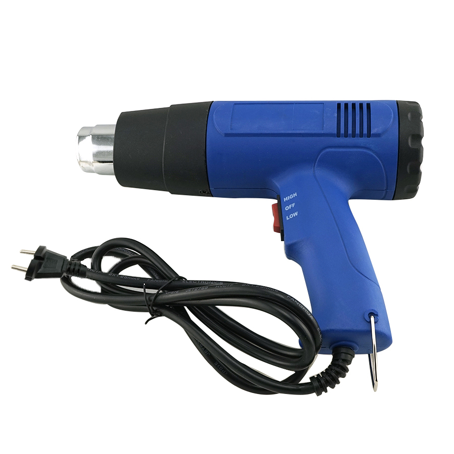 New Heat Gun Hot Air Gun Dual Temperature 4 Nozzles Power