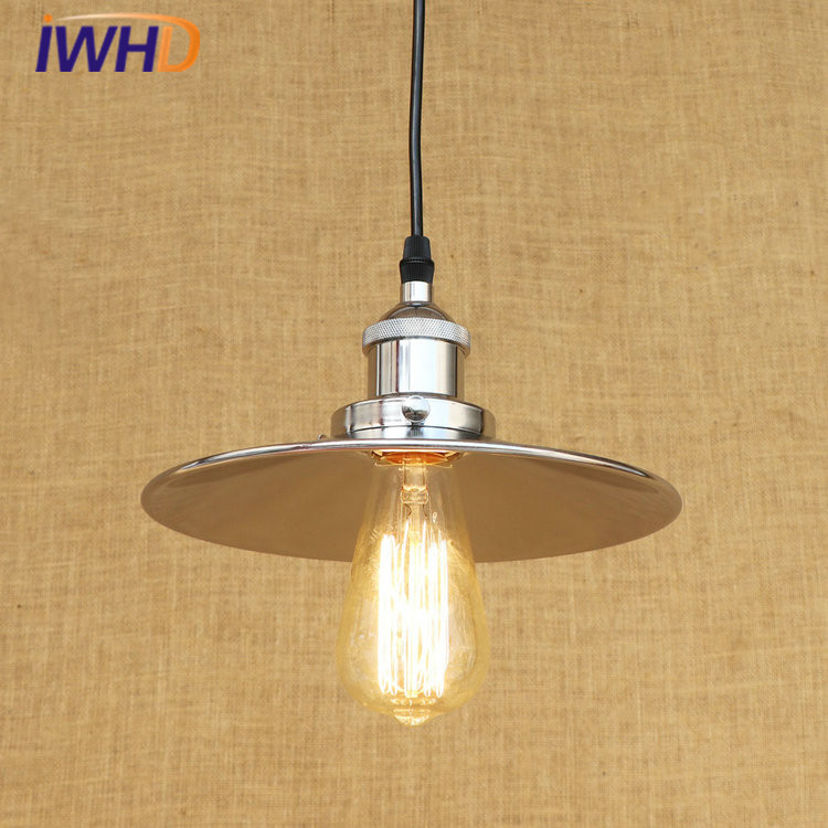 RH Lustre LED Pendant Lights Loft Vintage Industrial Pendant Light Fixtures For Home Lightings Hanging Lamp Lamparas Colgantes tiffany mediterranean sea style natural shell lampshade pendant lights led lamparas colgantes lustre vintage lamp hanging lamps