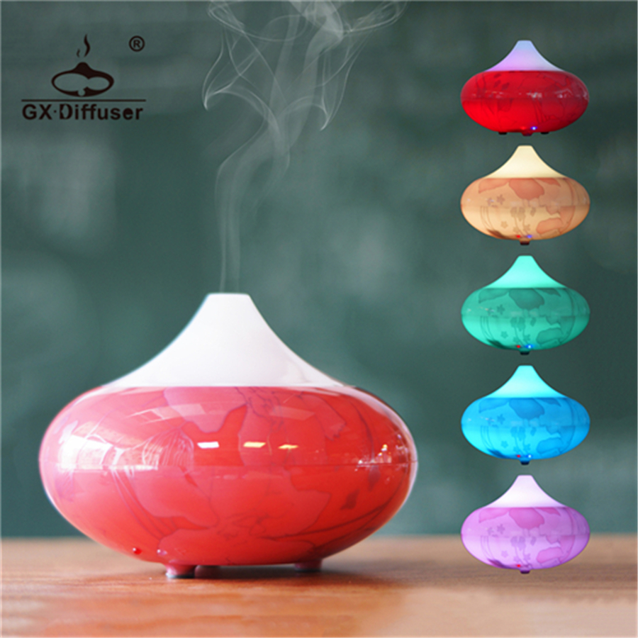 GX.Diffuser 2017 New Aroma Diffuser Air Purifier Aromatherapy Ultrasonic Essential Oil Humidifier 7 Colors LED Lights Household