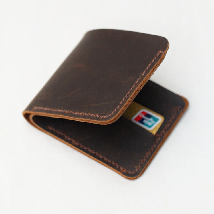DIY wallet package eighty percent off short wallet minimalist Handmade semi-finished leather brown/red in store present tools