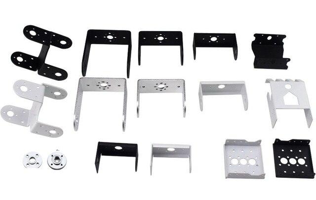2 piezas de doble eje Servo soporte montaje/dedicado/DIY Robot brazo Servo piezas juguete Robot Accesorios