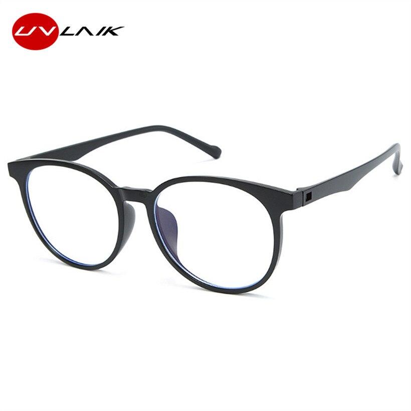 UVLAIK Anti Blue Rays Retro Glasses Frame Men Women Blue Light Coating Gaming Glasses For Computer Protection Spectacles Eyewear