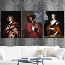 Home Decoration Print Canvas Art Wall Pictures Poster Printings Paintings England Anthony van dyck  Portrait 6