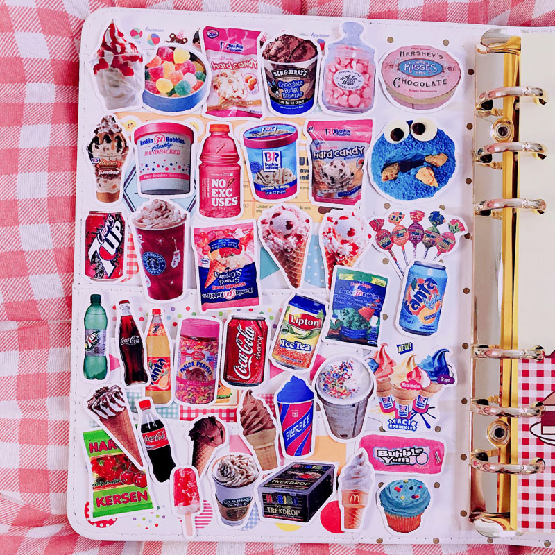 Cartoon Stickers Creative Cute Soda Snack DIY Scrapbooking Album Journal Happy Planner Mobile  Handicraft Decorative Stickers