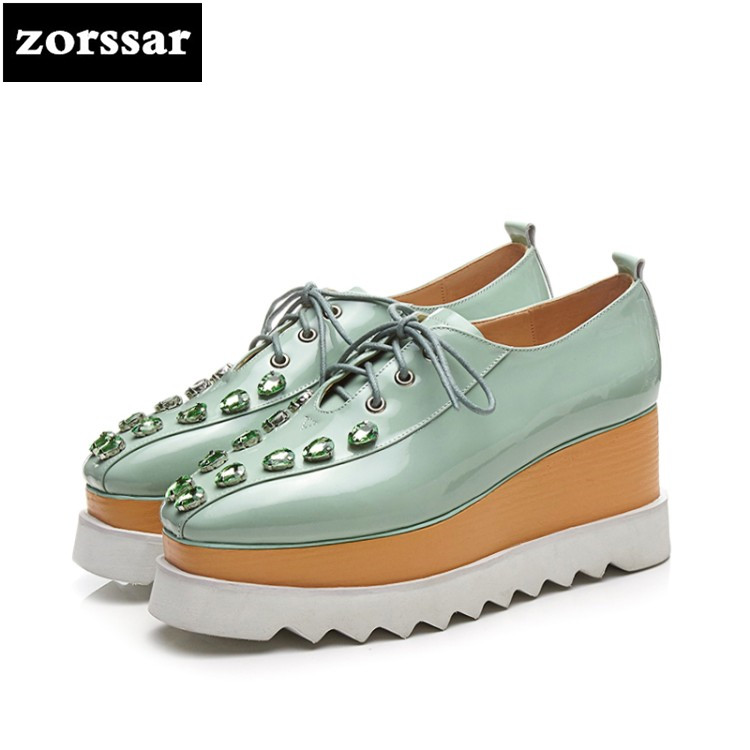 {Zorssar} Casual fashion Women Shoes high heel pumps 2018 New womens Wedges High heels Ladies Platform Creepers Shoes zorssar brand 2018 new womens creepers shoes heels casual wedges high heels pumps shoes fashion suede women platform shoes