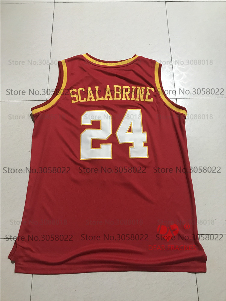 37328cc7890 ... official store top usc trojans 24 brian scalabrine jersey throwback  college basketball jersey vintage retro basket ...