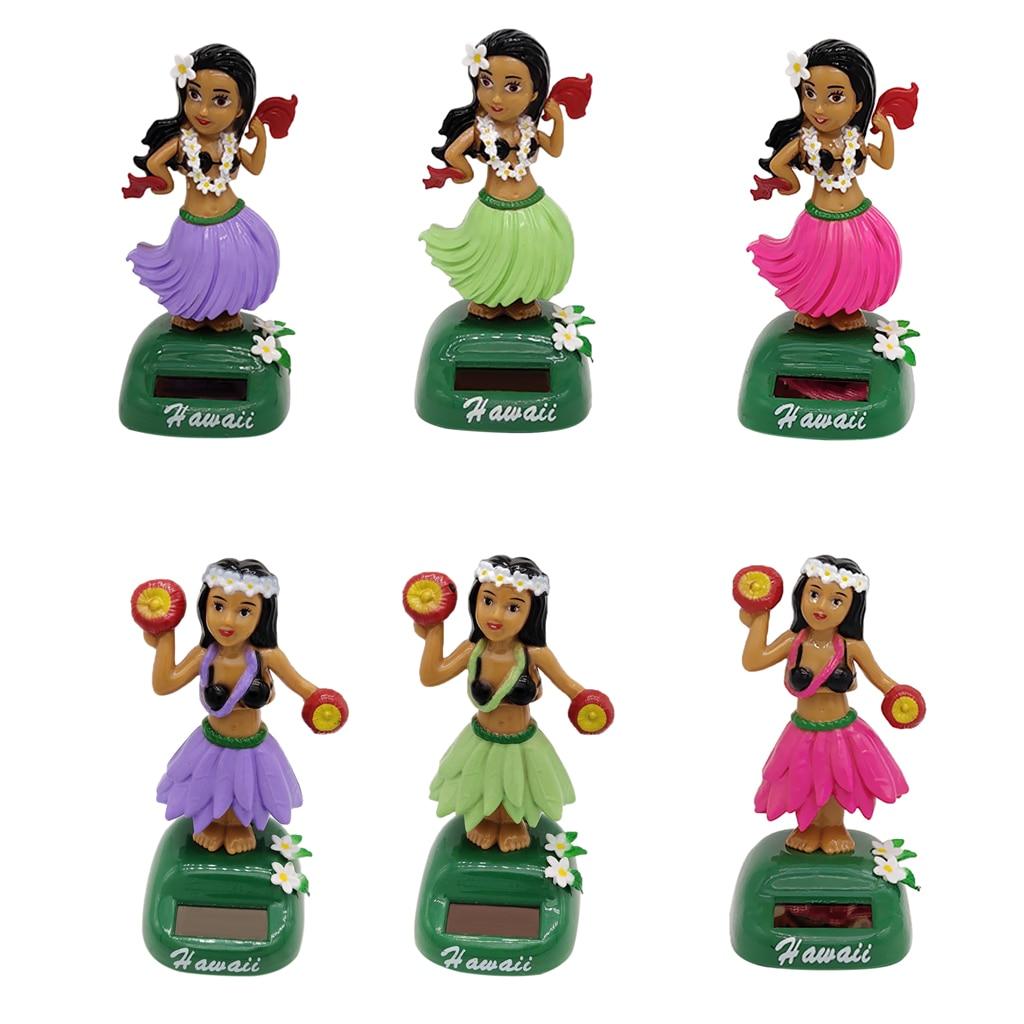 Solar Powered Dancing Hula Ass Wiggling Hawaiian Girl Figurine - Hawaii Swing Figure Model Educational Toy Desk Decor