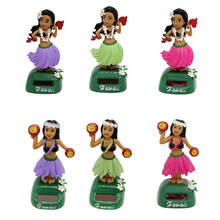 Solar Powered Dancing Hula Ass Wiggling Hawaiian Girl Figurine - Hawaii Swing Figure Model Educational Toy Desk Decor(China)