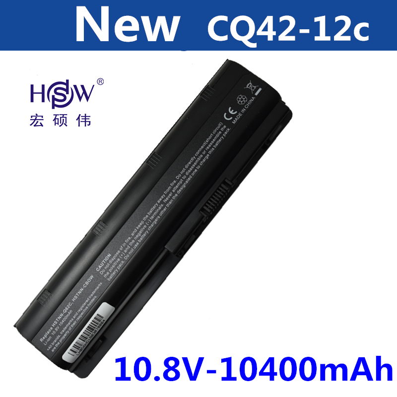 HSW 10400MAH battery for HP PAVILION DM4 DV3 DV5 DV6 DV7 G4 G6 G7 G72 G62 G42 for Presario CQ32 CQ42 CQ43 CQ56 CQ62 CQ72 MU06