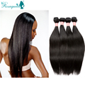 Rosa Hair Products 6A Natural Black Human Hair Extensions Peruvian Virgin Hair Straight 4pcs/Lot Peruvian Straight Hair Weave
