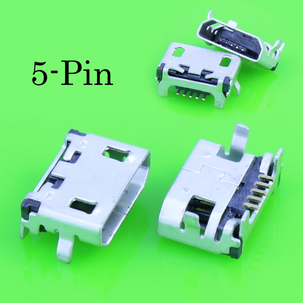 10Pcs Micro Usb Connector Female 5 Pin Charging Socket For Lenovo A10-70 A370e A3000 A3000h A5000 A7600 A7600h S910 S930