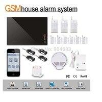 G1D 1 DIY Wireless GSM alarm System HOME Security BURGLAR ALARM KIT with PIR Sensor detector Siren Door/window sensor,gift box