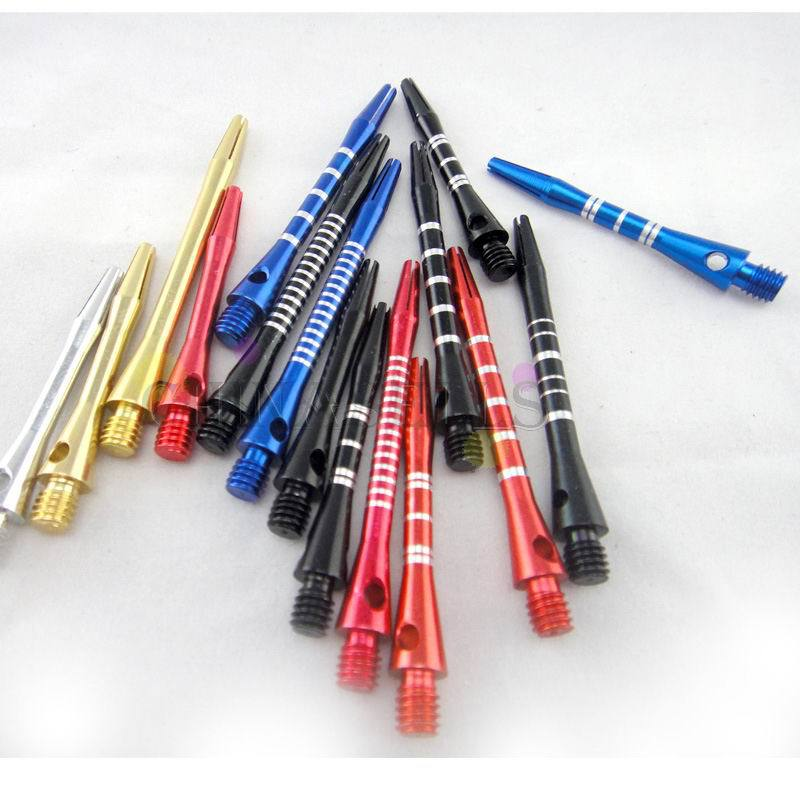 6pcs Soft Hard Aluminum Dart Shaft Darts Accessories Anti-break Durable Senior Dart Pole Various Colors