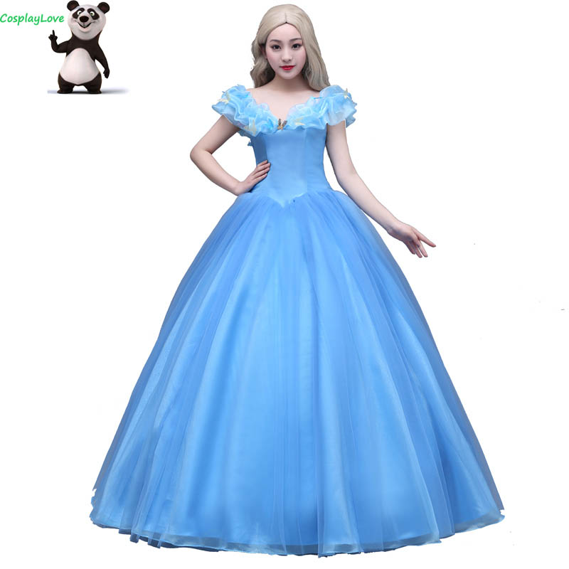 Cosplaylove Cinderella Cosplay Sky Blue The Princess Cinderella Dress Cosplay Costume Adult Kid Costumes Custom Made
