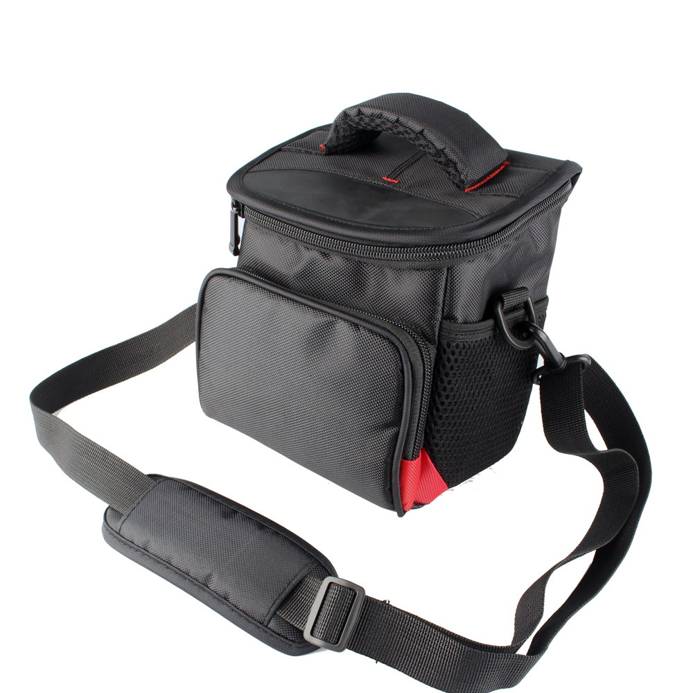 Medium Camera Bag Case for Pentax XG-1/ <font><b>RX18</b></font>/ X-5/ RZ10/ X70/ VS20/ Q10/ Q-S1/ Q7 Cameras Handbags with Shoulder Strap image
