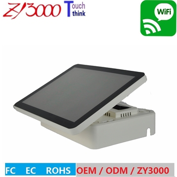 NEW stock a4 1037u 4G ddr3 64G ssd 15 inch capacitive multi touch screen WIFI all in one pos system