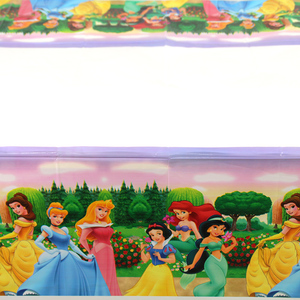 Image 4 - 108x180cm Princess Tablecloth Kids Girls Happy Birthday Party Decorations Adult Party Supplies Anniversaire