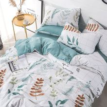 Cartoon Pink Flamingo Bedding Sets 3/4pcs /set Duvet Cover Set Pastoral Bed Sheet Pillowcases Cover Set 1.2/1.5/1.8/2M Bed Cover flamingo random print bed sheet set